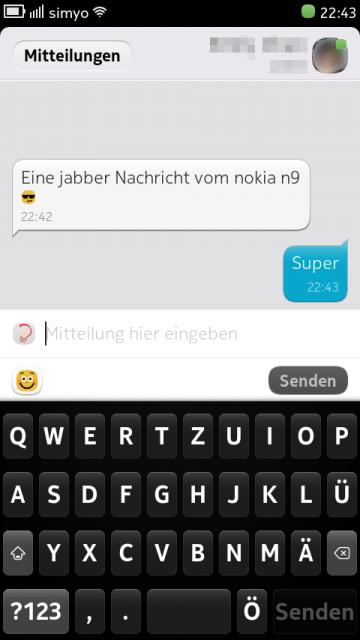 Jabber auf Nokia N9